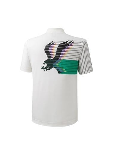 Mizuno Archive Polo Erkek T-Shirt Beyaz/Desenli Beyaz